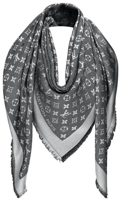 Item - Black Lv Monogram Denim Shawl Scarf/Wrap