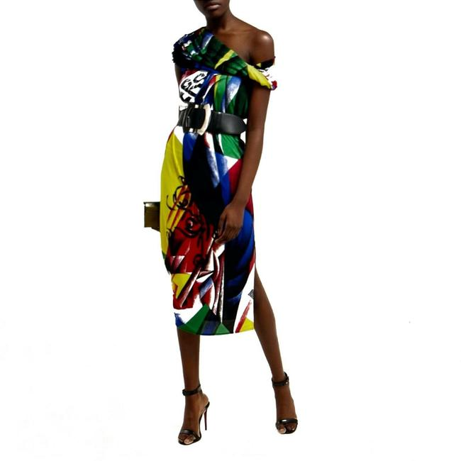 Item - Multicolor Mid-length Night Out Dress Size 10 (M)