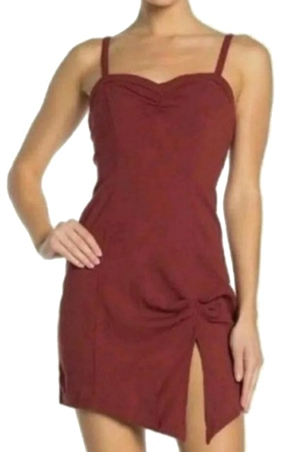 Item - Wine Bodycon Short Night Out Dress Size 2 (XS)
