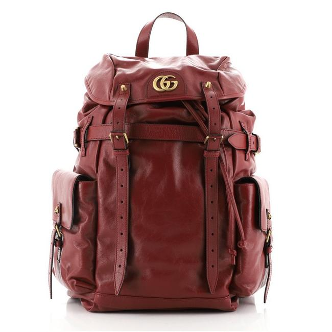 Item - Marmont Gg Multipocket Large Red Leather Backpack