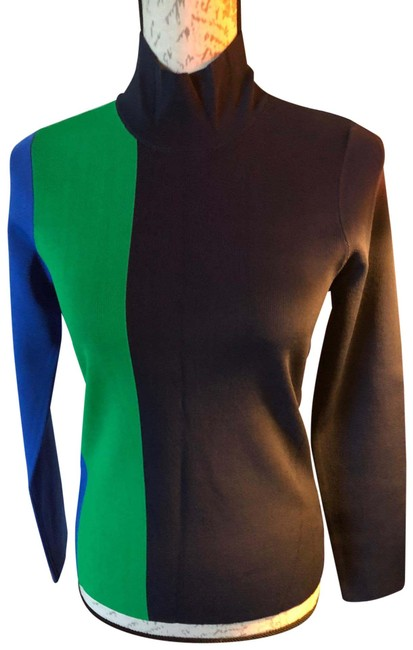 Item - Tb Color Block Tech Black-green-navy Sweater