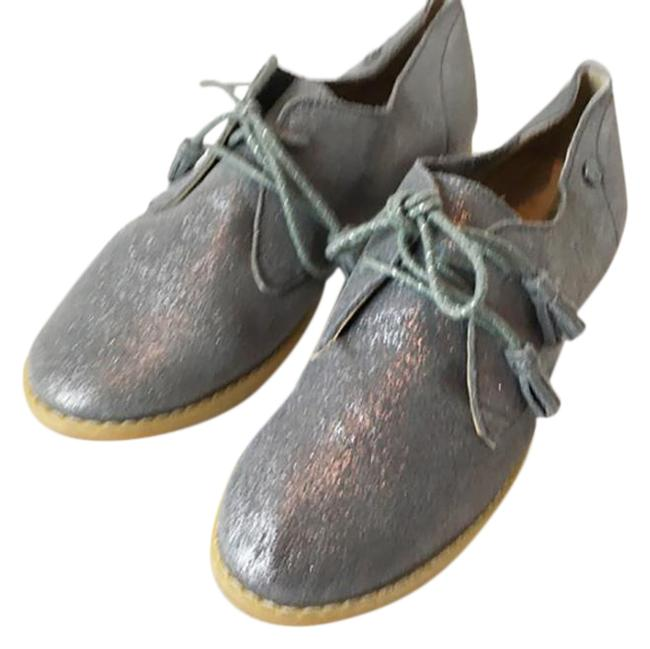 Item - Gray Silver Women's Lace Up Nwot Flats Size US 6 Regular (M, B)