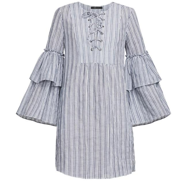 Item - Blue Charlize Short Casual Dress Size 4 (S)