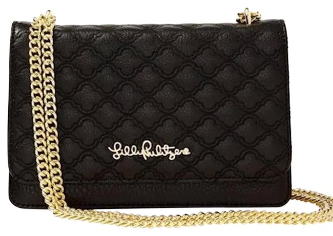 Item - Quilted Kat Black Leather Cross Body Bag