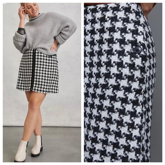 Item - Black Evira Houndstooth Skirt Size 12 (L, 32, 33)