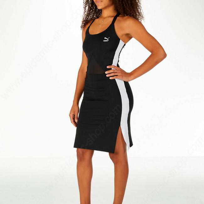 Item - Blk and Wht Short Casual Dress Size 4 (S)