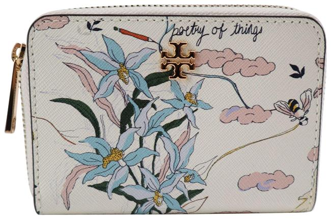 Item - White Multi Poetry Of Things Coin Case Wallet
