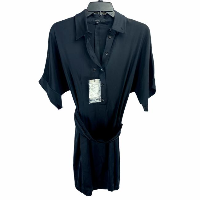 Item - Black Silk Belted Short Casual Dress Size 2 (XS)