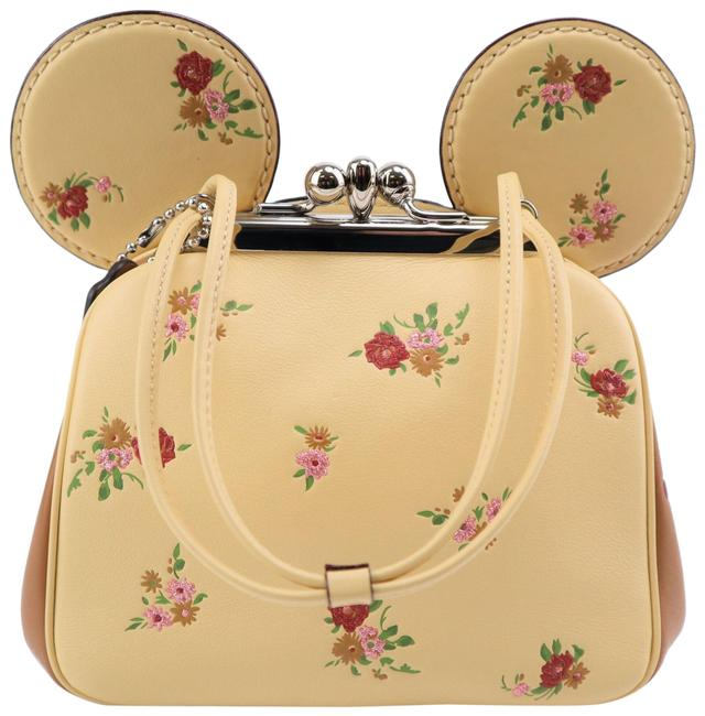 Item - Disney Minnie Mouse Kisslock Limited Edition Ear Yellow Leather Cross Body Bag