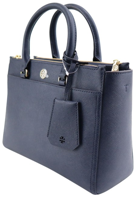 Item - Robinson Double Zip Navy Leather Tote