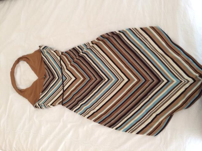 Laundry by Shelli Segal short dress Shades of brown and turquoise on Tradesy