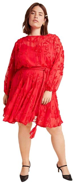 Item - Red New Mare Mare Amal Textured Mini Short Casual Dress Size 20 (Plus 1x)