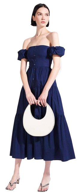 Item - White Leather Large Moon Bag Satchel