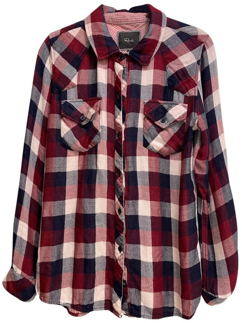 Item - Red White and Blue Kendra Button-down Top Size 4 (S)