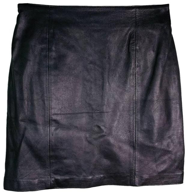 Item - Black Bagatelle Leather 9/10 Zipper Skirt Size 10 (M, 31)