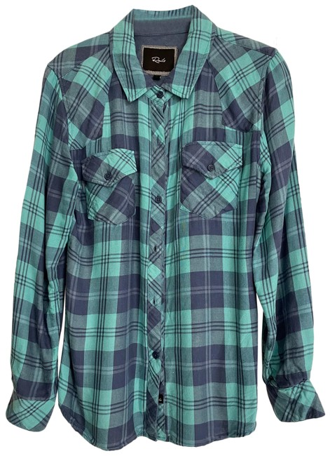 Item - Blue Green Kendra Button-down Top Size 4 (S)