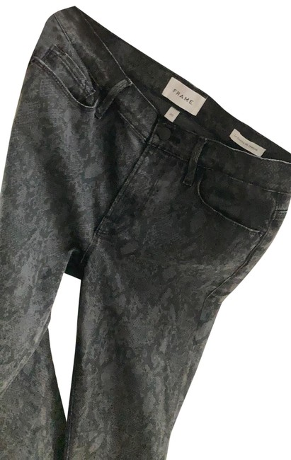 Item - Black and Dark Gray Le De Jeanne Skinny Jeans Size 8 (M, 29, 30)
