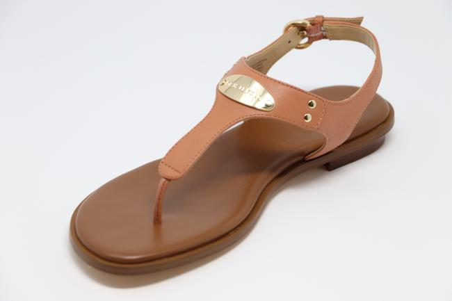 Item - Peach Saffiano Leather Plate Sandals Size US 6.5 Regular (M, B)