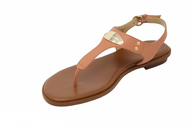 Item - Peach Saffiano Leather Plate Sandals Size US 7 Regular (M, B)