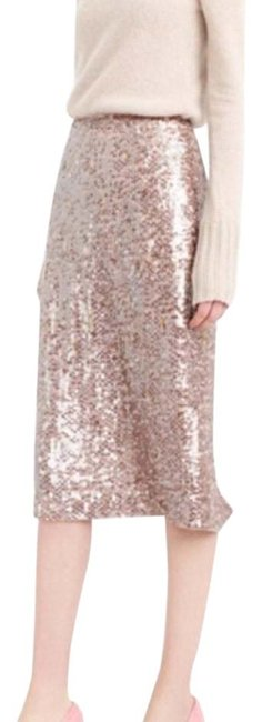 Item - Rose Gold Sequin Pencil Skirt Size 0 (XS, 25)