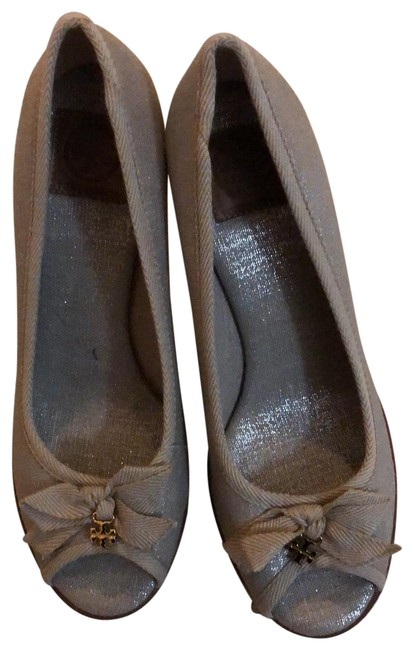 Item - Shimmer Natural Linen Wedge Espadrilles Pumps Size US 7.5 Regular (M, B)