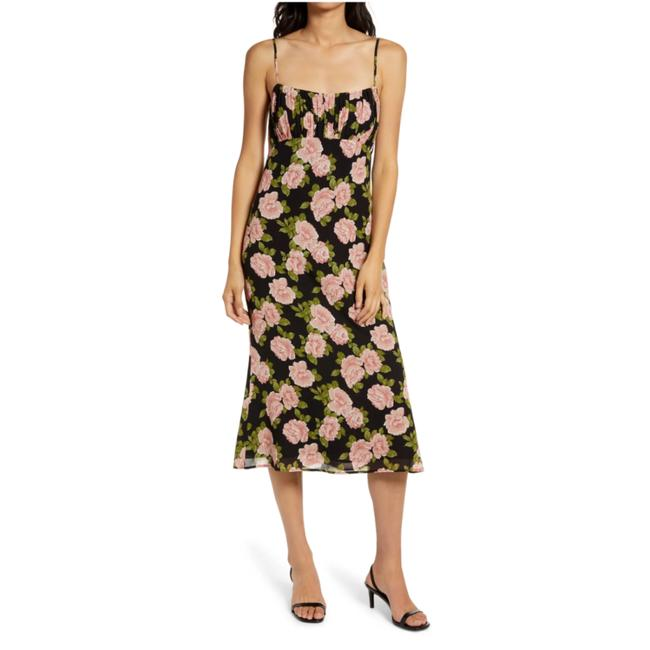 Item - Rosalia Arie Floral Print Mid-length Night Out Dress Size 10 (M)