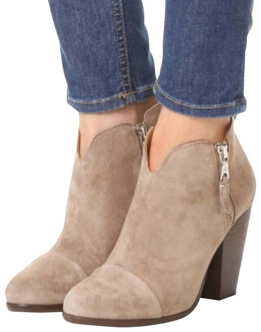 Item - Cream Margot Suede Double Zip Ankle Boots/Booties Size EU 35 (Approx. US 5) Regular (M, B)