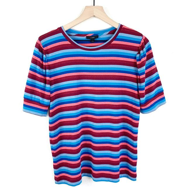 Item - Pink Re-imagined By Multicolor Striped Tee Shirt Size 8 (M)