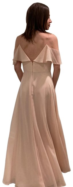 Item - Pink Cold Shoulder Long Formal Dress Size 4 (S)