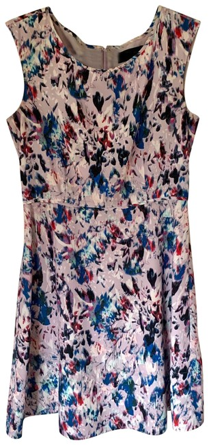 Item - A-line Floral Print Mid-length Work/Office Dress Size 6 (S)