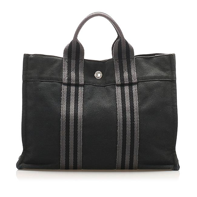 Item - Fourre Tout Pm Black Canvas Tote
