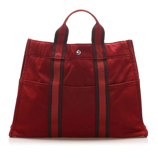 Item - Fourre Tout Red Canvas Tote
