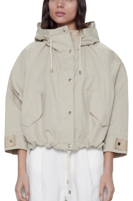 Item - Sand Hooded Jacket Size 4 (S)