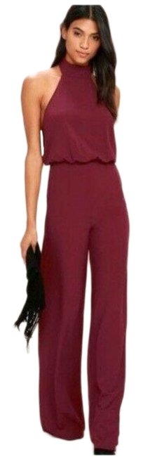 Item - Red Moment For Life Wine Halter Romper/Jumpsuit