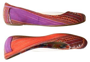 TOMS One For One Ballet Summer Multi colors Red Purple Others Flats