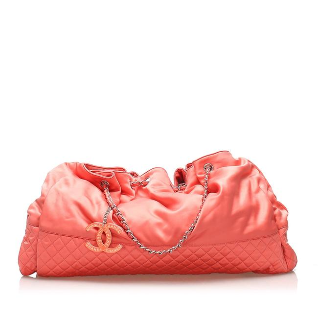 Item - Melrose Cabas Pink Satin Shoulder Bag