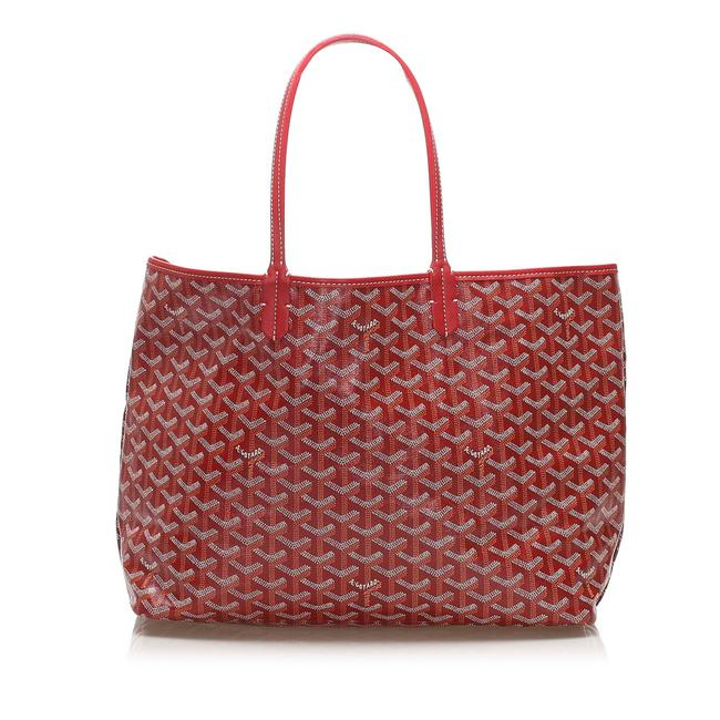 Item - Saint Louis Pm Red Leather Tote