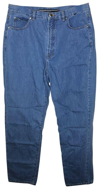Item - Blue Medium Wash Sport Womens Relaxed Mid Rise Stretch Fit Straight Leg Jeans Size 24 (Plus 2x)