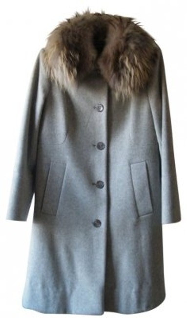 Preload https://img-static.tradesy.com/item/28787/anne-klein-gray-grey-collar-lambswool-cashmere-dressy-evening-fur-coat-size-8-m-0-0-650-650.jpg