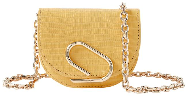 Item - * Alix Flap Mini Yellow Leather Cross Body Bag