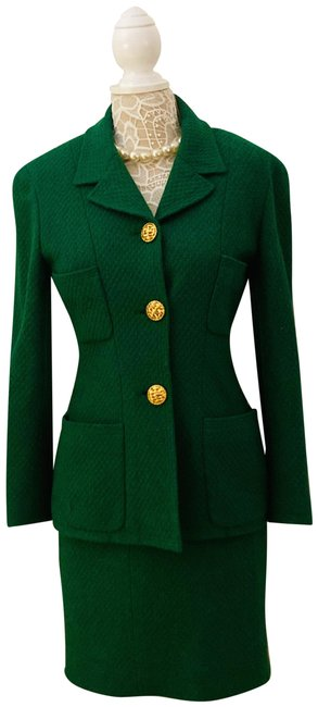 Item - Green Vintage Tweed Skirt Suit Size 4 (S)