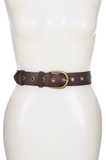 Item - Brown Grommet Leather Wide Small Belt
