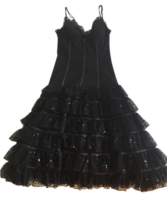 Betsey Johnson Evening Lace And Sequins Contemporary And Vintage Cocktail Dress