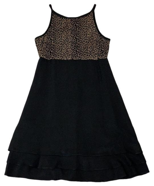 Item - Leopard Print Mid-length Night Out Dress Size 4 (S)