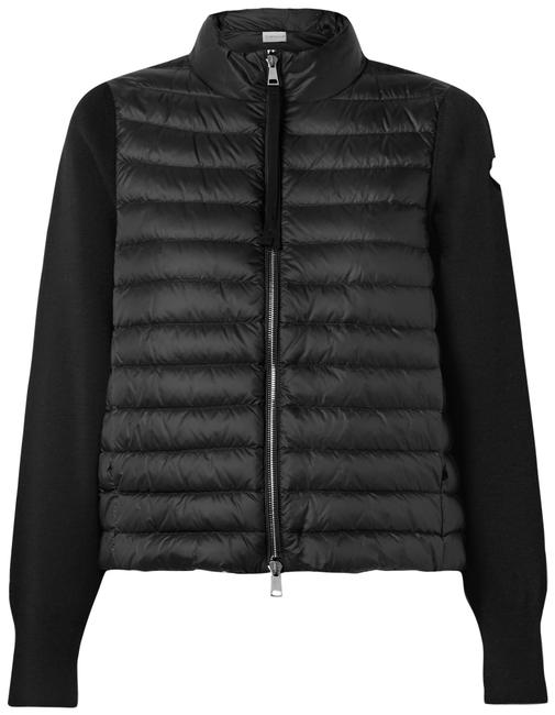 Item - Black Quilted Shell Down and Wool Jacket Coat Size 4 (S)
