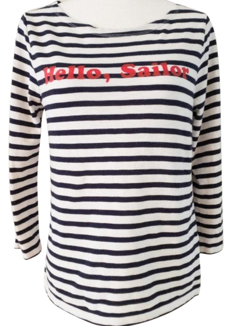 Item - Blue Hello Sailor Boatneck Tee Shirt Size 6 (S)