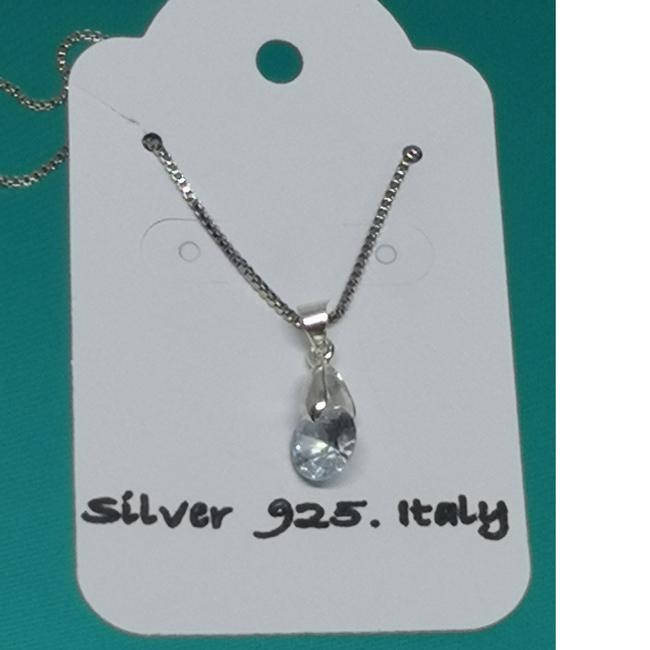 Item - Silver New Necklace.diamond (Moissanite)2kt Necklace