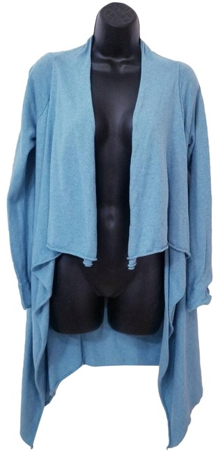 Item - Blue Open Front High Cardigan Size 2 (XS)