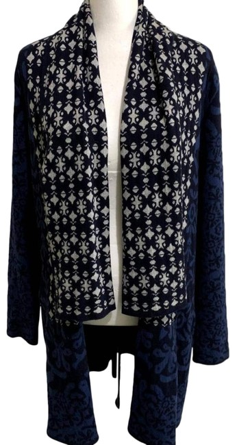 Item - Blue Gypsy05 Cascade Open Front Cashmere Cardigan Size 10 (M)