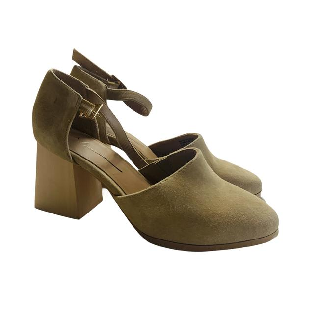 Item - Cream Meredith Leather Suede Closed Toe Block Heel Pumps Size US 6.5 Regular (M, B)